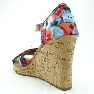 TOMS Shoes - Toms Women Wedge Sandals Slip On Heel R6S7-2